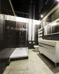 Plafond tendu laqué noir avec eclairage périphérique LED