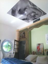 Plafond tendu rétroéclairé avec l'impression numérique client particulier à Jouques
